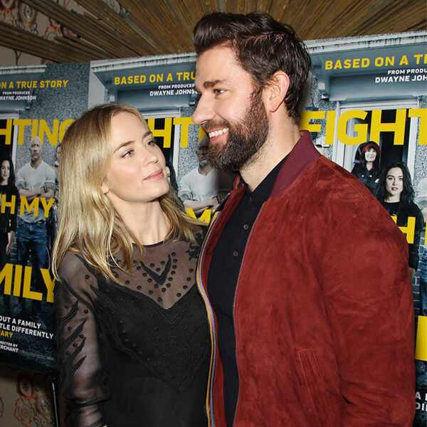 Emily Blunt, John Krasinski, Fighting With My Family Screening
